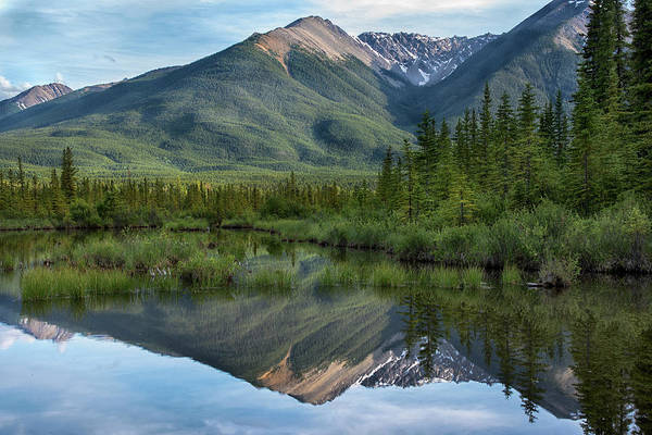 Wall Art - Photograph - Reflections In Vermillion Lakes, Banff National Park Canada 5 by Dave Dilli