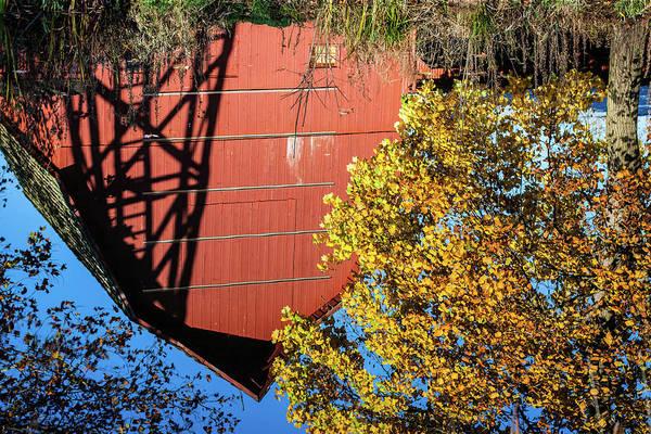 Bonneyville Mill Wall Art - Photograph - Reflections by Jason Champaigne
