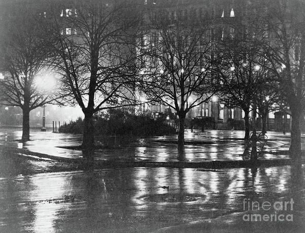 Wall Art - Photograph - Reflections, Night, New York by Alfred Stieglitz
