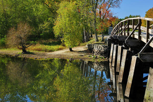 Photograph - Reflections Of Autumn Concord Massachusetts by Luke Moore
