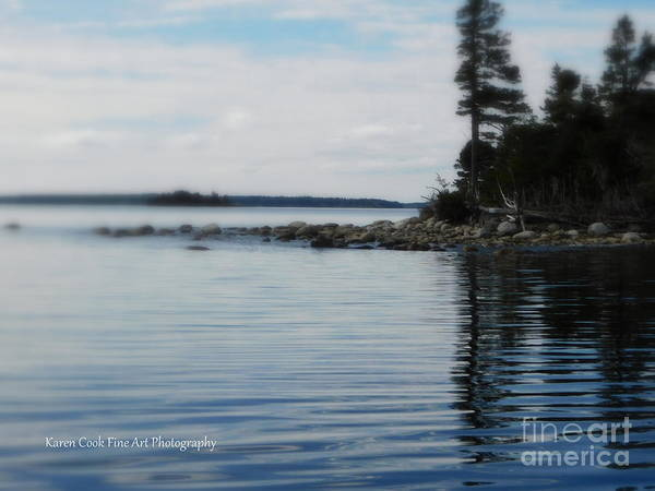 Treasure Hunt Wall Art - Photograph - Reflections Of Isaac's Point by Karen Cook