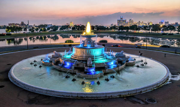 Belle Isle Photograph - Reflections Of Sunset by Pat Eisenberger