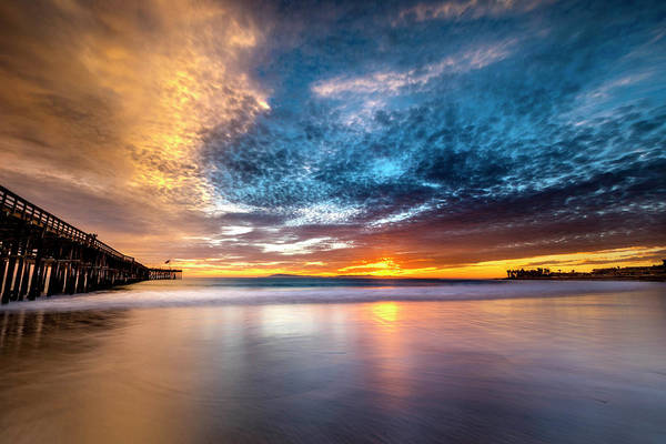 Ventura Photograph - Reflections Of Surf And Sky by Dan Holmes