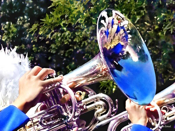 Photograph - Reflections On A Baritone Horn by Susan Savad