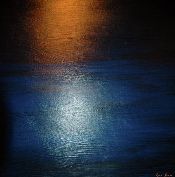 Painting - Reflections On Dark Water by Rein Nomm