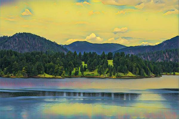 Mixed Media - Reflections On Pactola Lake by Susan Rydberg