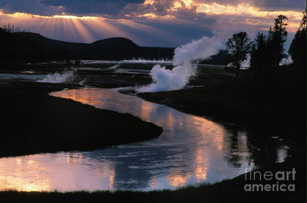 Firehole River Wall Art - Photograph - Reflections On The Firehole River by Sandra Bronstein