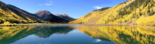Wall Art - Photograph - Reflective Crystal Lake With Yellow by Dmathies