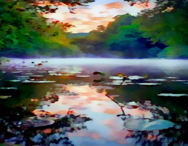 Painting - Reflective Lake Sunset by Catherine Lott