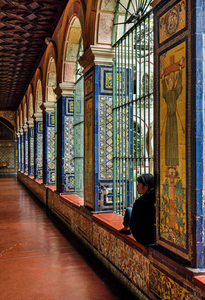 Photograph - Cloister Contemplation by Jon Exley