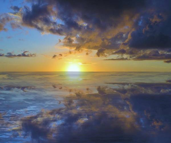 Photograph - Reflective Sunset 2 by Joan Stratton