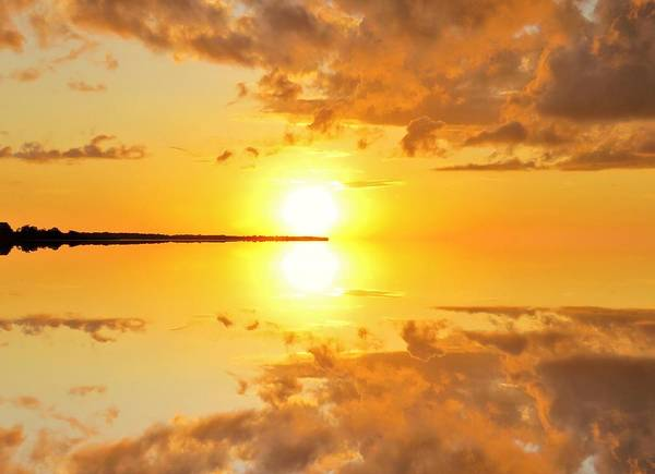 Photograph - Reflective Sunset 3 by Joan Stratton