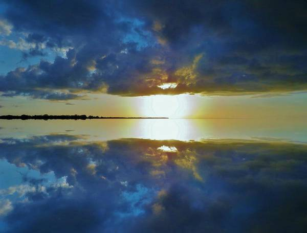 Photograph - Reflective Sunset Mission To Gulf by Joan Stratton