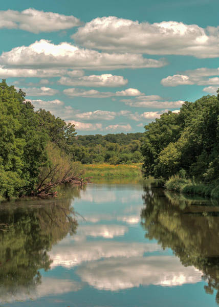 Photograph - Reflective Wisconsin Creek by Laura Hedien