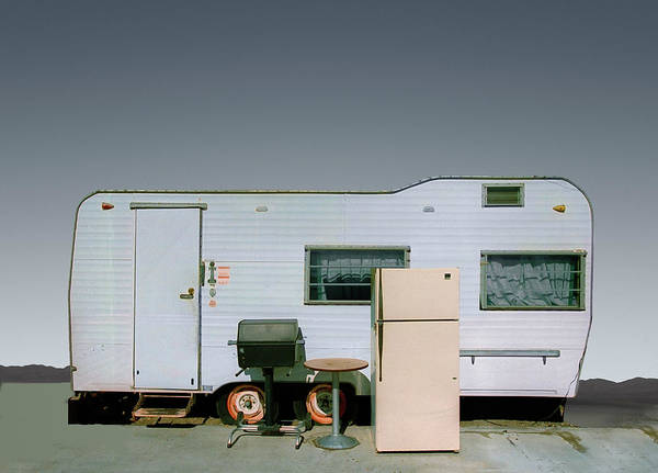 Wall Art - Photograph - Refrigerator And Table By Mobile Home by Ed Freeman