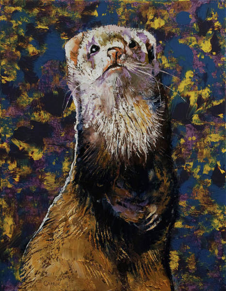Wall Art - Painting - Regal Ferret by Michael Creese