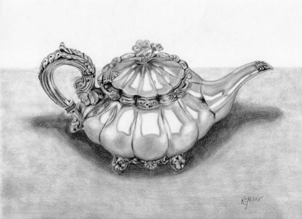 Wall Art - Drawing - Regal Tea by Robin Miller