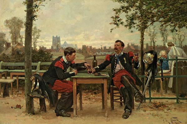 Marie Painting - Regaling The Commander, 1875 by Alphonse-Marie de Neuville