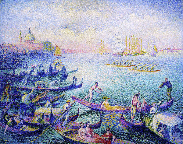 Wall Art - Painting - Regatta In Venice - Digital Remastered Edition by Henri Edmond Cross