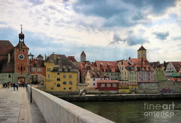 Photograph - Regensburg - City On The Danube by Jutta Maria Pusl