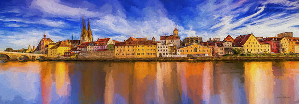 Painting - Regensburg On The Danube - Painting by Ericamaxine Price