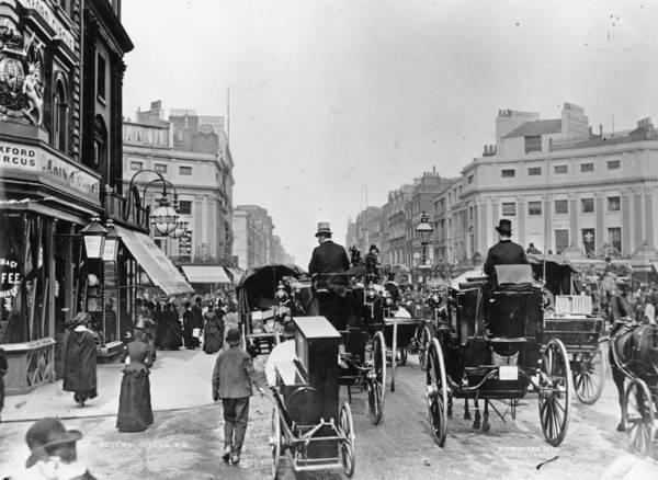 1888 Photograph - Regent Circus by London Stereoscopic Company