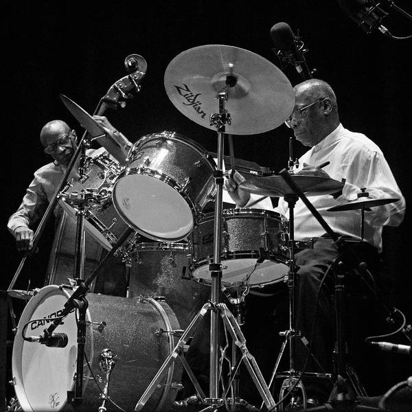 Photograph - Reggie Workman And Andrew Cyrille 3 by Lee Santa