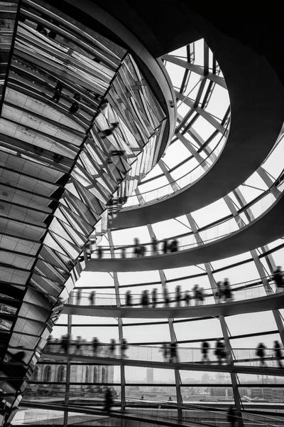Deutschland Photograph - Reichstag Dome Berlin Germany In Black And White  by Carol Japp