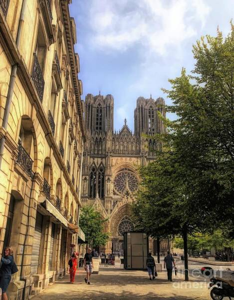 Angel Of Peace Photograph - Reims France  by Luther Fine Art