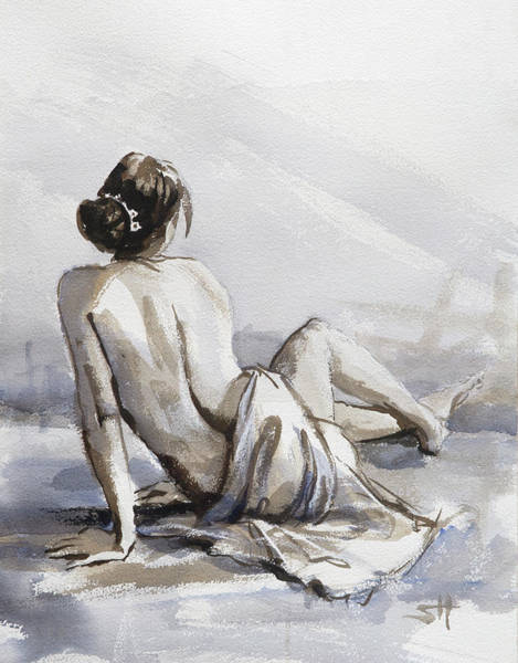 Figurative Wall Art - Painting - Relaxed by Steve Henderson