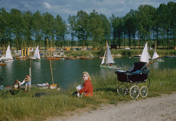 Photograph - Relaxing Along The Marne River by Loomis Dean