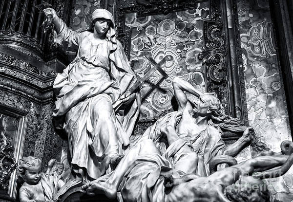 Photograph - Religion Overthrowing Heresy And Hatred By Legros In Rome by John Rizzuto