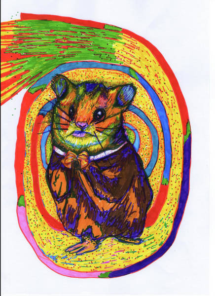 Hamster Drawing - Religious Hamster by Kennedy Paizs