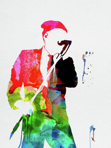 Jazz Mixed Media - Rem Watercolor by Naxart Studio
