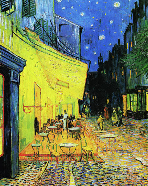 Photograph - Remastered Art Cafe Terrace At Night By Vincent Van Gogh 20190302 by Wingsdomain Art and Photography