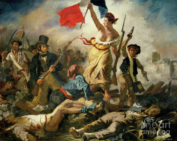 Wall Art - Photograph - Remastered Art Liberty Leading The People By Eugene Delacroix 20190227 by Wingsdomain Art and Photography