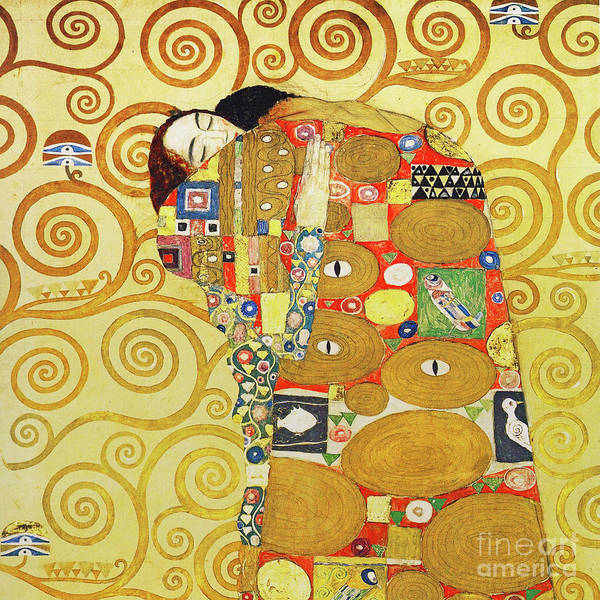 Photograph - Remastered Art Preparatory Design Stoclet Palace Frieze By Gustav Klimt 20190215 Sq by Wingsdomain Art and Photography