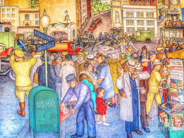Photograph - Remastered Art San Francisco Coit Tower Mural 20190419 V2 by Wingsdomain Art and Photography