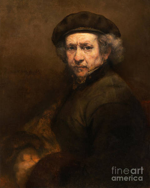 Photograph - Remastered Art Self Portrait With Beret And Turned Up Collar By Rembrandt 20181122 by Wingsdomain Art and Photography