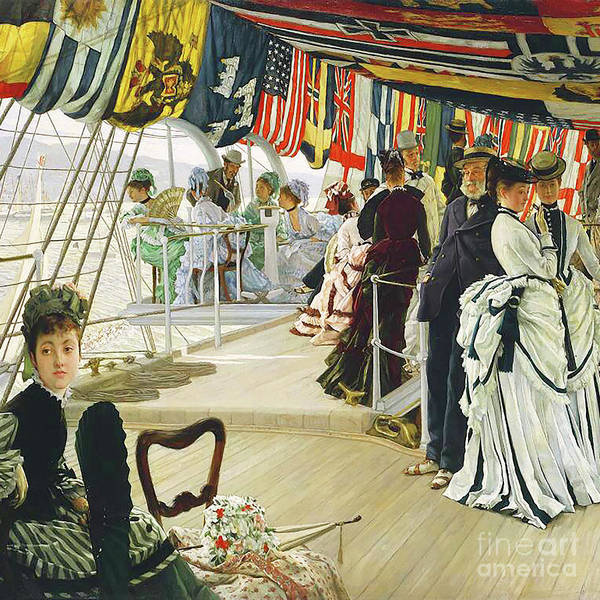 Photograph - Remastered Art The Ball On Shipboard By James Tissot 20190417 Square by Wingsdomain Art and Photography