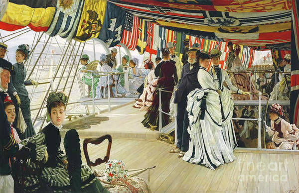 Wall Art - Photograph - Remastered Art The Ball On Shipboard By James Tissot 20190417 by Wingsdomain Art and Photography