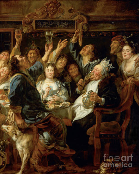 Photograph - Remastered Art The Feast Of The Bean King By Jacob Jordaens 2019 by Wingsdomain Art and Photography