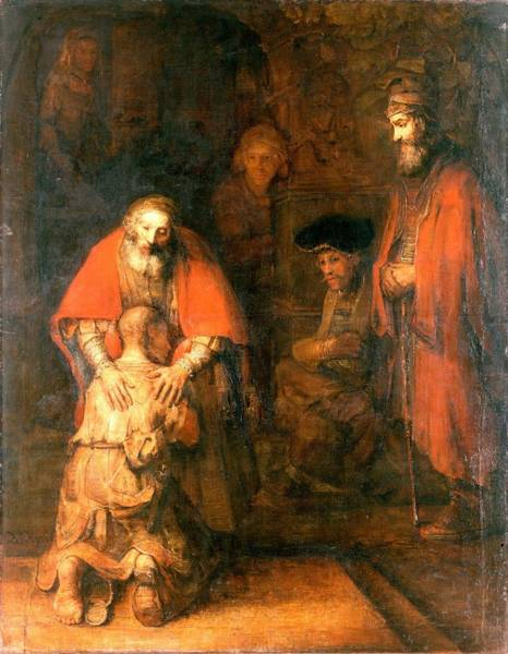 Wall Art - Painting - Rembrandt Harmenszoon Van Rijn - The Return Of The Prodigal Son 2 by European Paintings