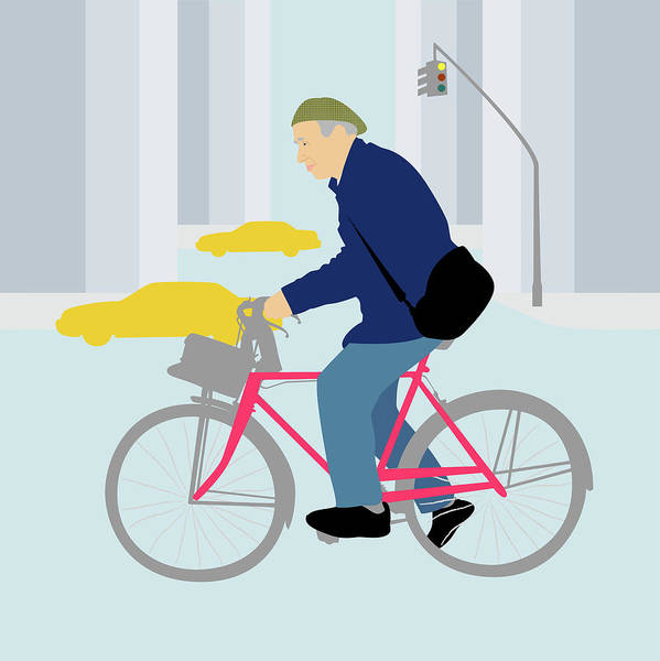 Wall Art - Digital Art - Remembering Bill Cunningham, Nyc Fashion Photographer by Claire Huntley
