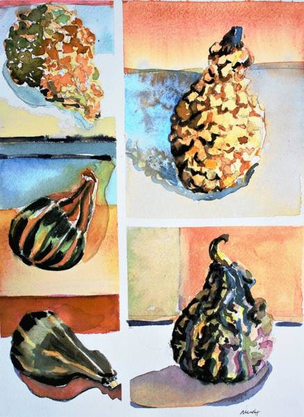 Wall Art - Painting - Remembering In  November by Mindy Newman
