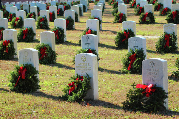Photograph - Remembrance Wreaths by Cynthia Guinn