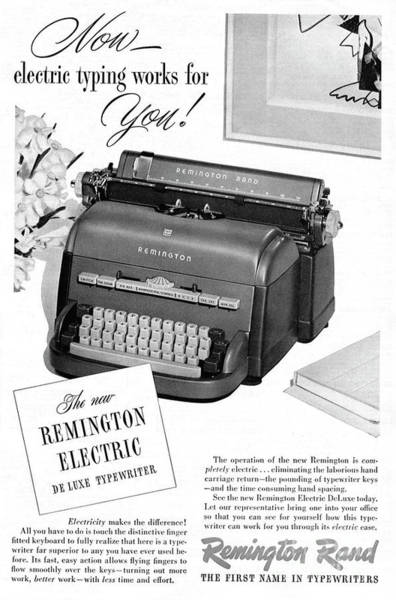Electric Mixed Media - Remington Now Electric Typing Works For You, 1949 by Zal Latzkovich