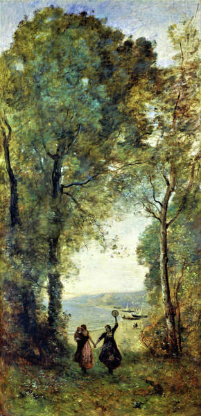 Wall Art - Painting - Reminiscence Of The Beach Of Naples - Digital Remastered Edition by Jean-Baptiste Camille Corot