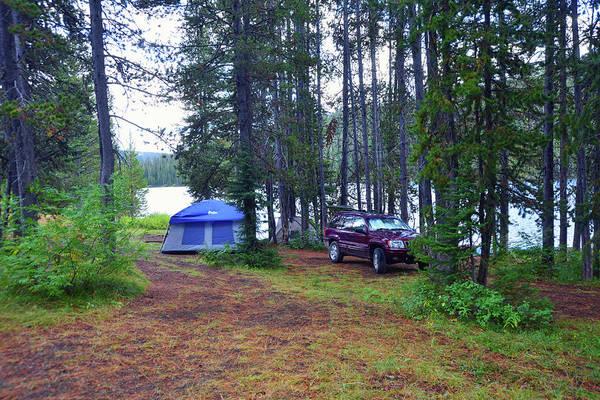 Camera Raw Photograph - Remote Tent Camp, Grassy Lake by Brenton Cooper