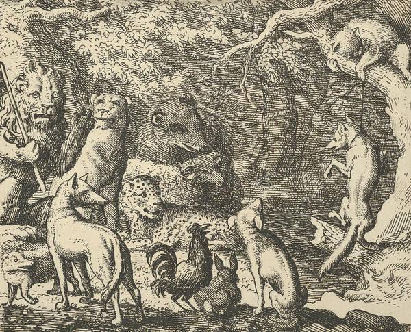Relief - Renard Asks For Confession From Hendrick Van Alcmar's Renard The Fox by Allaert van Everdingen